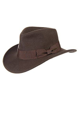 ce9446c48af Indiana Jones Crushable Wool Hat BROWN Size MEDIUM (7 - 7 1 8)    niftywarehouse.com  NiftyWarehouse  IndianaJones  GeorgeLucas  HarrisonFord   Movies