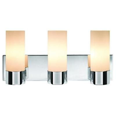 Hampton Bay 3 Light Vanity Wall Fixture V294CH03 G5097 1WHFR At The