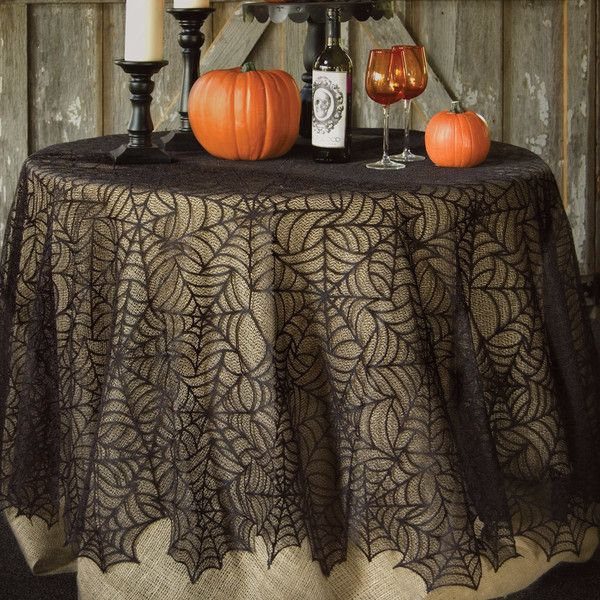 Spider Web Round Tablecloth Reviews (35) liked on