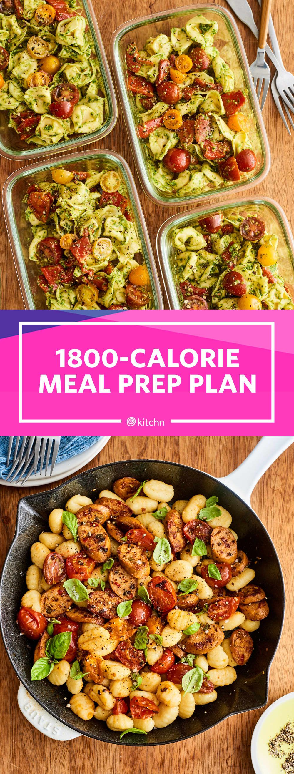 Meal Prep Plan: How I Prep a Week of 1,800-Calorie Days in Under 2 Hours #mealprepplans