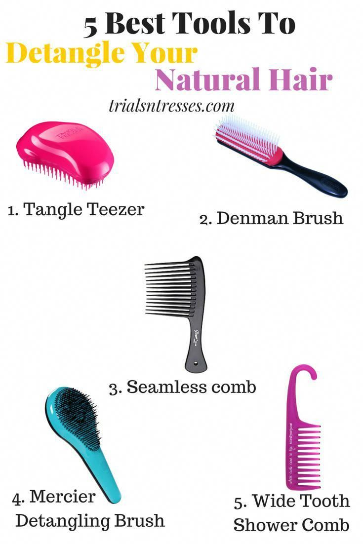 5 Best Tools To Help Detangle Natural Hair - Trials N Tresses