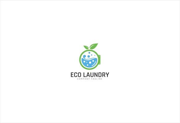 Eco Green Laundry Logo Template Logo Templates Laundry Logo