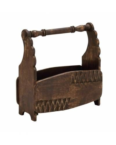 Country Styled Carved Wood Magazine Holder _ This Fascinating Magazine  Holder Is Made Of Quality Wood