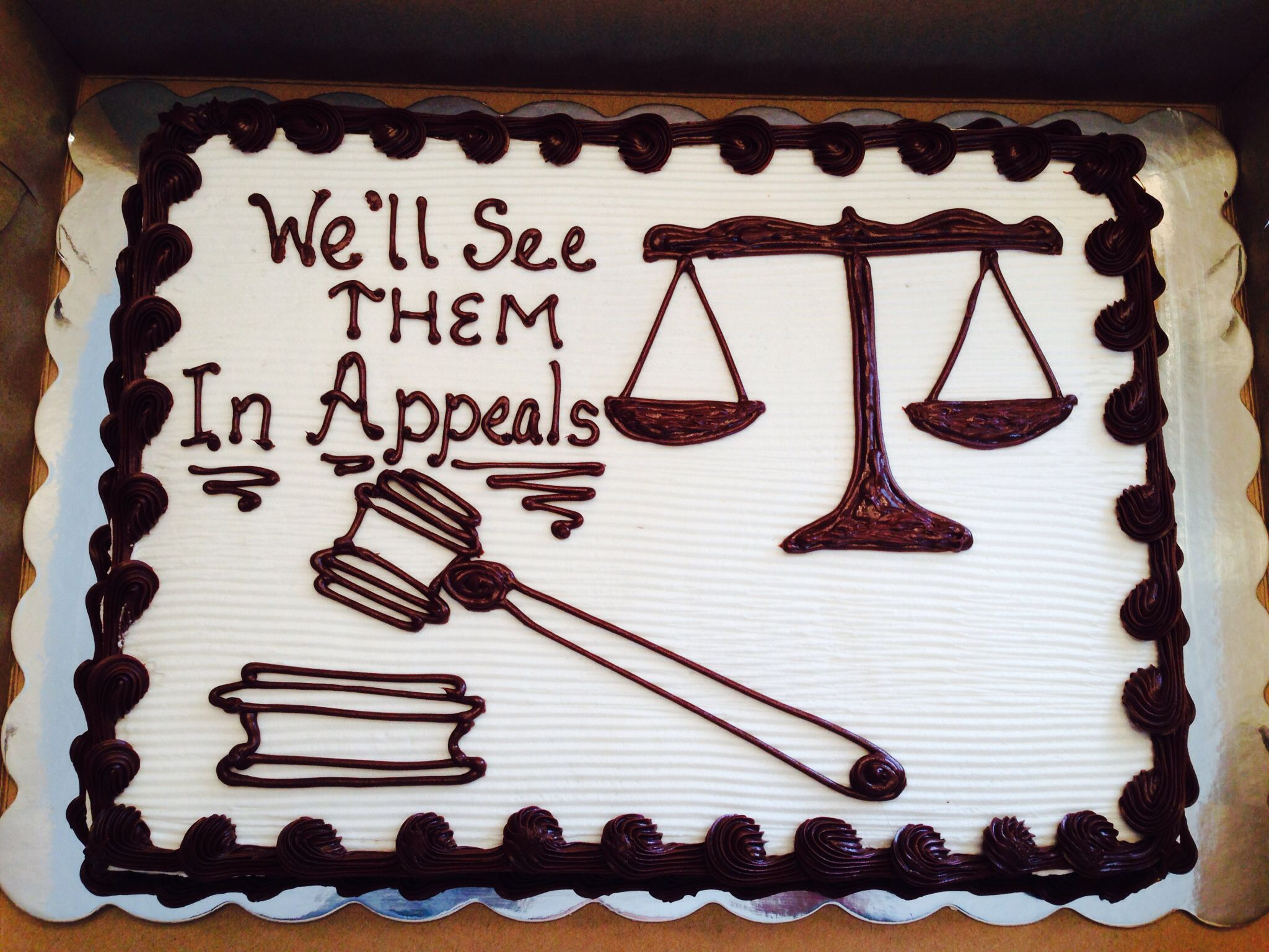 School Activity Celebration Cake For The Mock Trial Board