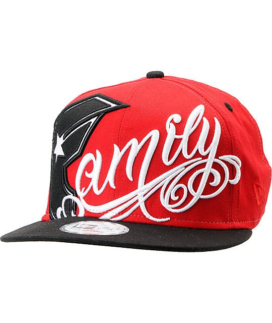 Famous Stars   Straps Always Family Red New Era Snapback Hat  b8a9db50dba