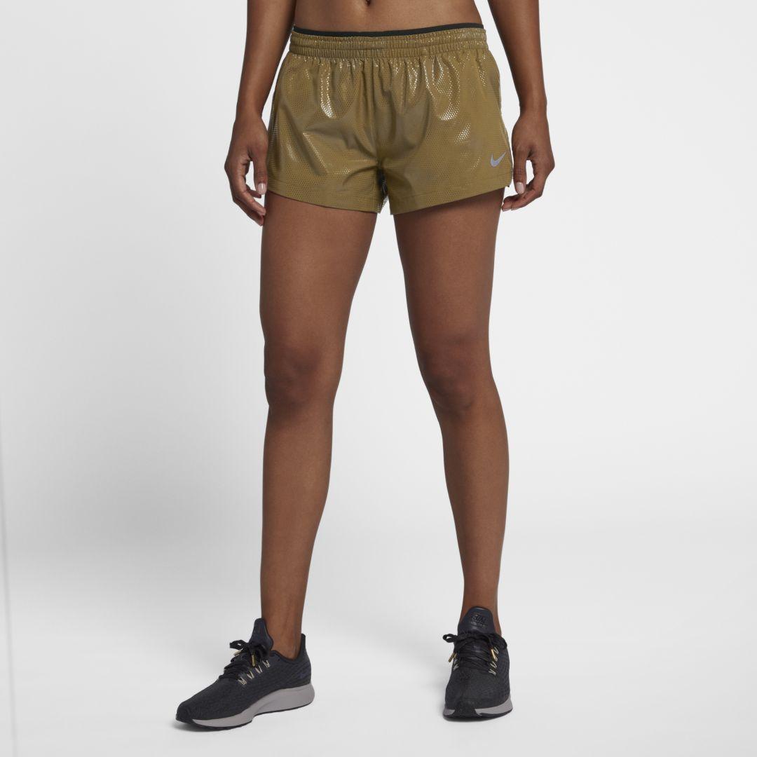 Nike Elevate Women's Running Shorts Size XL (Metallic Gold