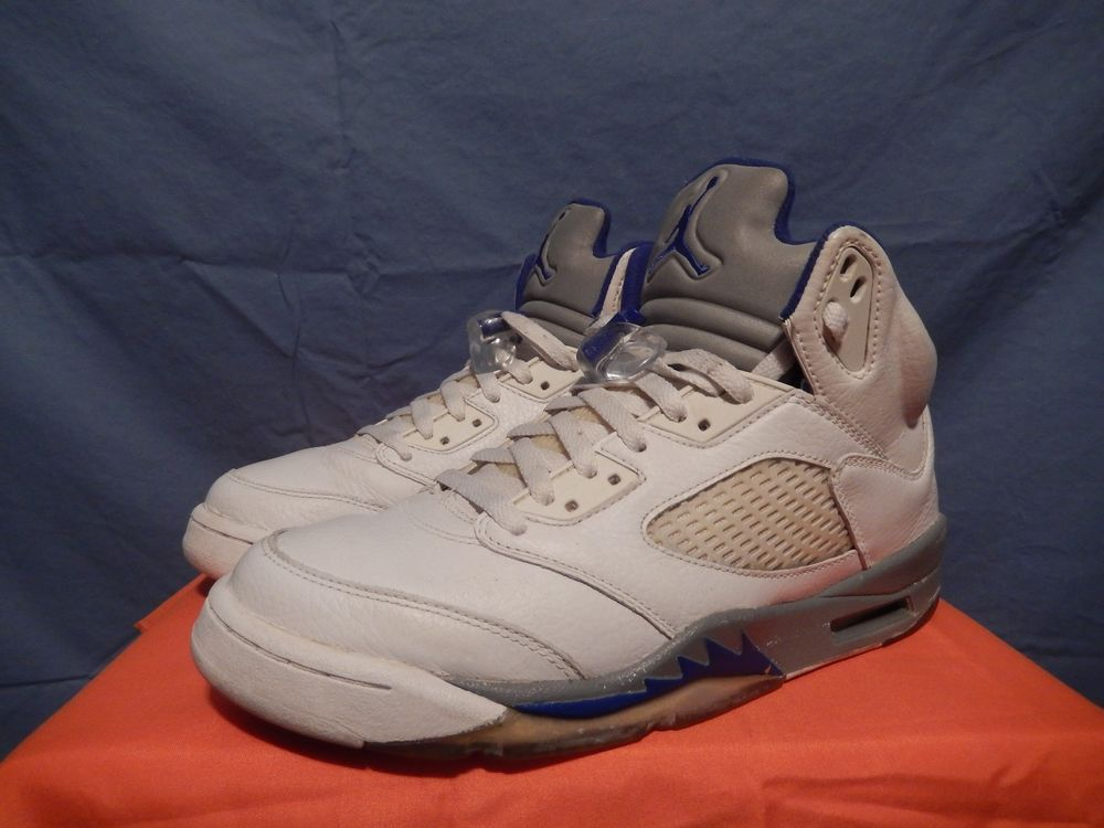 brand new 5966c 24d2a 2006 Nike Air Jordan V 5 Retro Stealth Royal Blue Size 8.5 136027-142 VTG