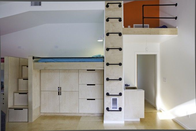 Adult Loft Beds With Under Stair Storage And Cabinet Combo Also