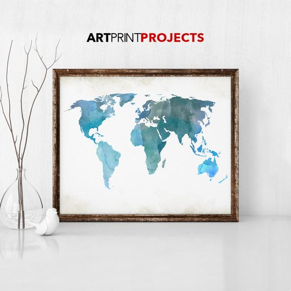 Large world map poster colorful world map print world map art large world map poster colorful world map print world map gumiabroncs Choice Image