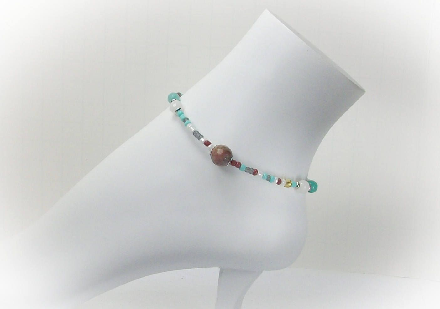 gift etsy anklet her customankletsbylori for hippie on by pin anklets