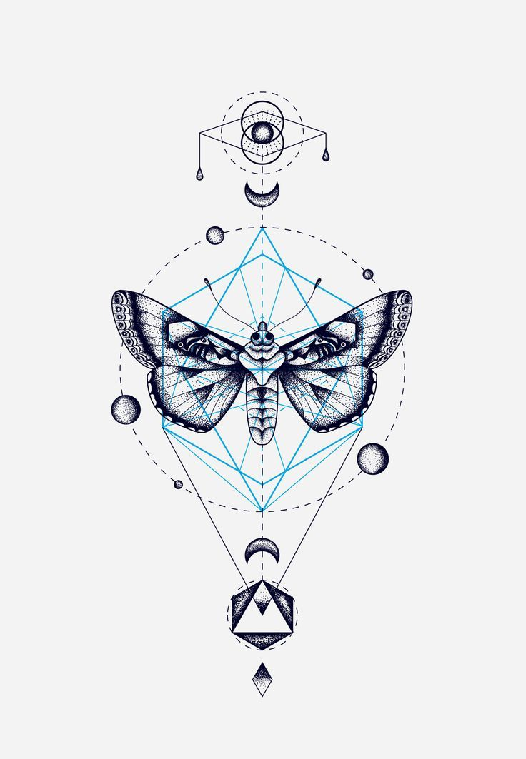 It is a photo of Bright Sacred Geometry Beetle Tattoo Drawing