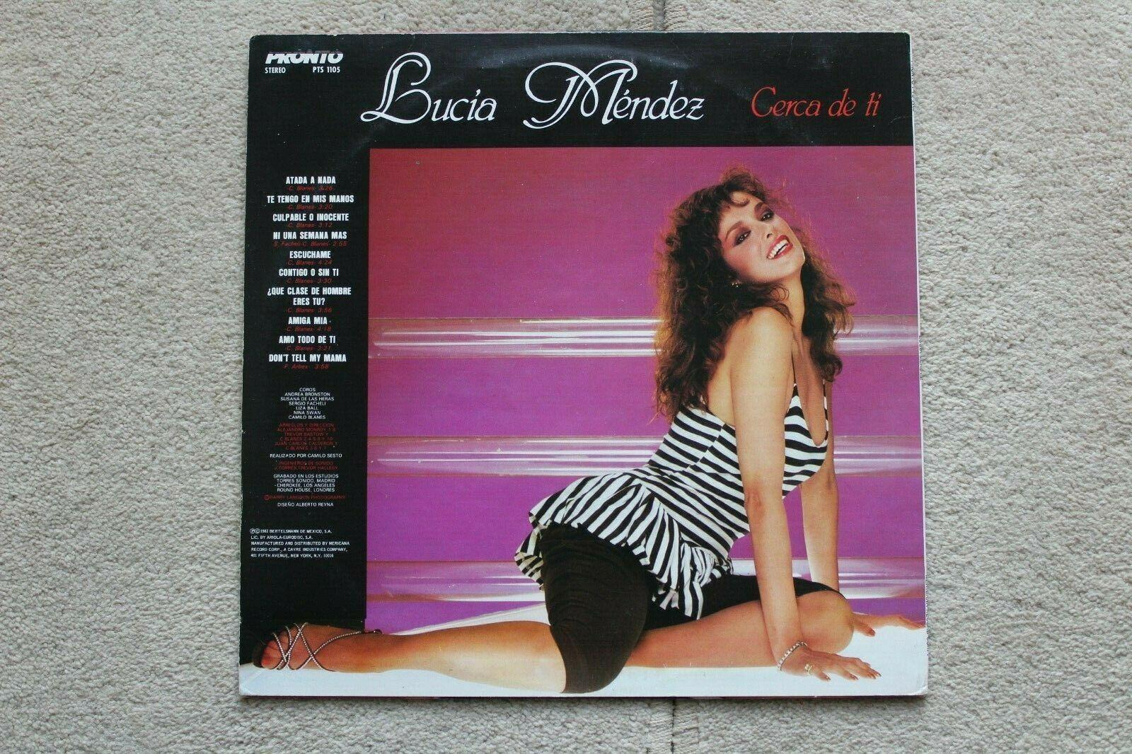 Lucia Mendez Lp Cerca Da Ti Pronto Pts 1105 Nm Ex 1982 Latin Pop Lucia Vinyl Record Collection Roxy Music