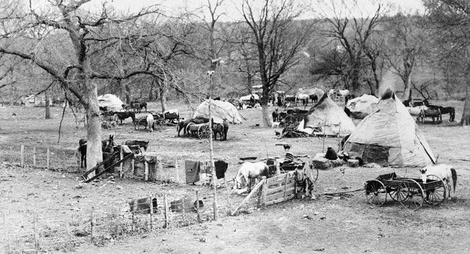 OSAGE CAMP IN OKLAHOMA , 1906