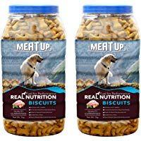 Meat Up Chicken Flavour Real Chicken Biscuit Dog Treats 1kg Jar