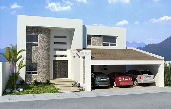 3d render fachada casa architecture pinterest for Casas modernas renders