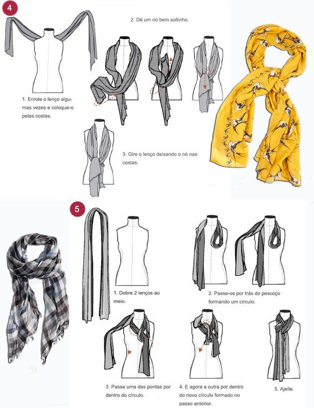 Resultado de imagem para usar lenço no pescoço passo a passo