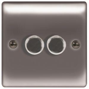 British General 2 Way Double Black Nickel Dimmer Switch Dimmer Switch Dimmer Switch Diy Dimmer