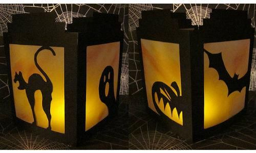 DIY Halloween  DIY Halloween Silhouette Lanterns  DIY Halloween - cheap diy halloween decorations