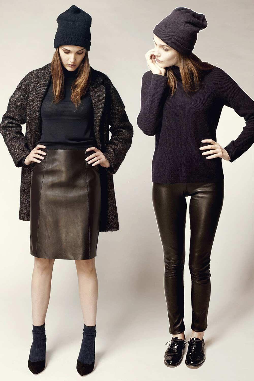 Leather jacket photoshoot - Camille Lou Photoshoot In Leather For Tara Jarmon Leather Coat Leather Jacket