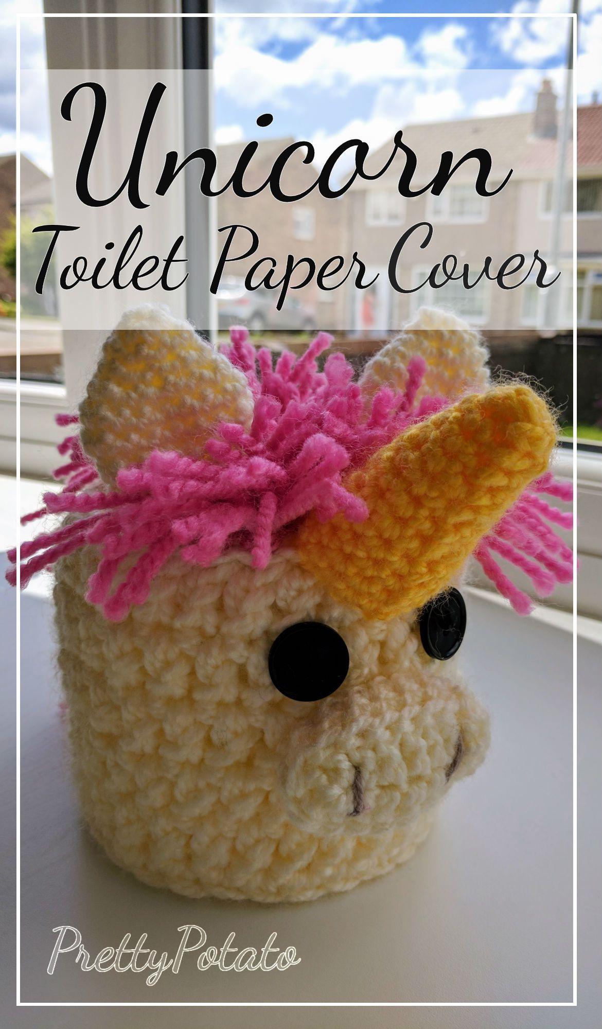 Intermediate Free Crochet Pattern Unicorn Toilet Paper Cover