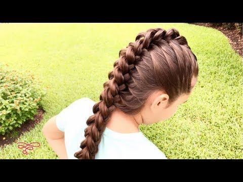 Upside Down French Braid Updo Hairstyle # upside down Braids tutorial