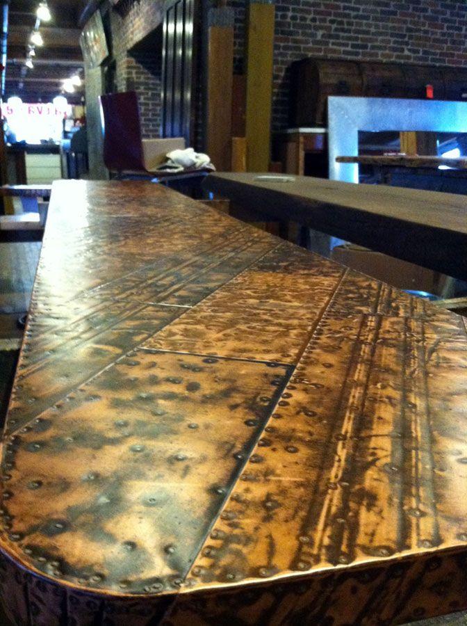 Pin By Melisha Blair On Bar Saloon Bar Countertops Bar Tops Diy Wood Bar Top