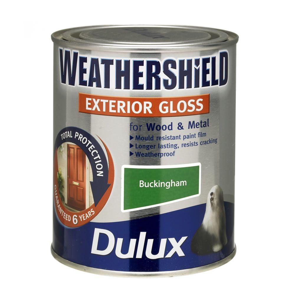 Dulux Weathershield Exterior Gloss Paint Buckingham 750ml