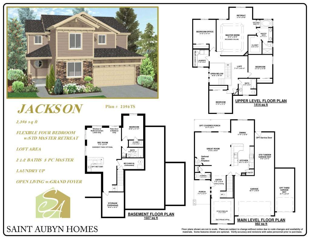 Jackson floorplan floor plans basement floor plans