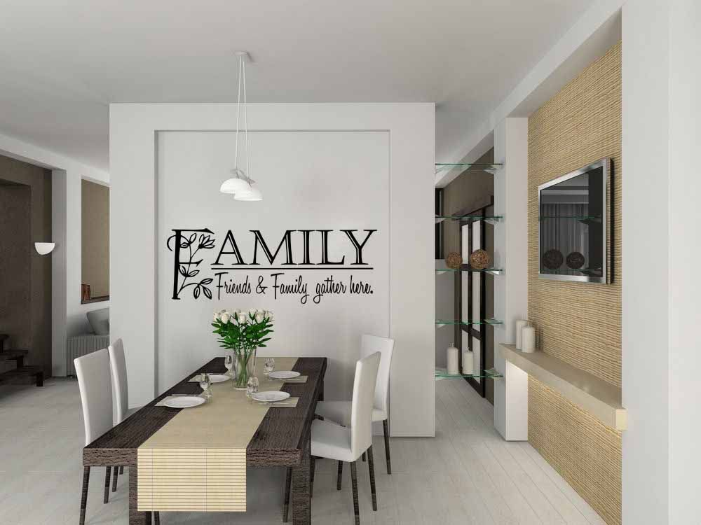 Family Friends And Family Gather Here Wall Decal
