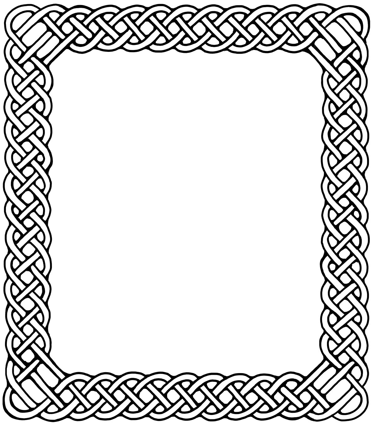 Celtic border stencil