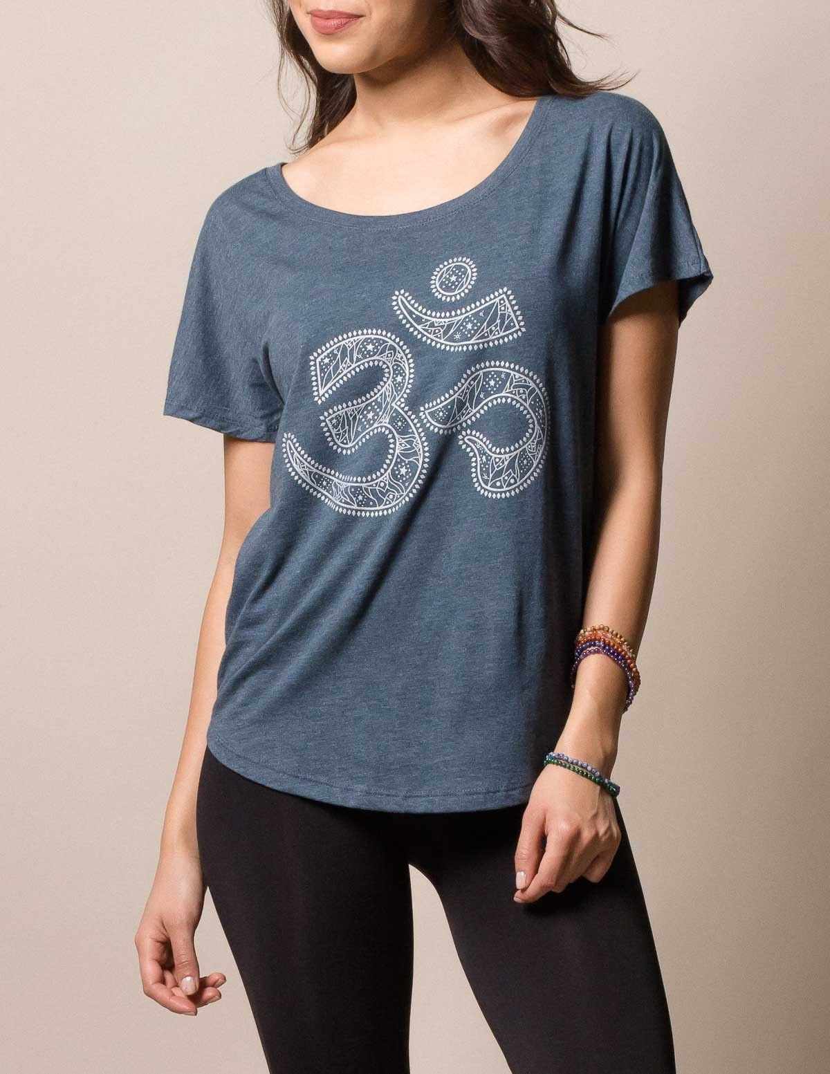 c8b94c4001d85 Dolman Heavenly Om Tee | style | Fair trade jewelry, Tees, Tibetan art