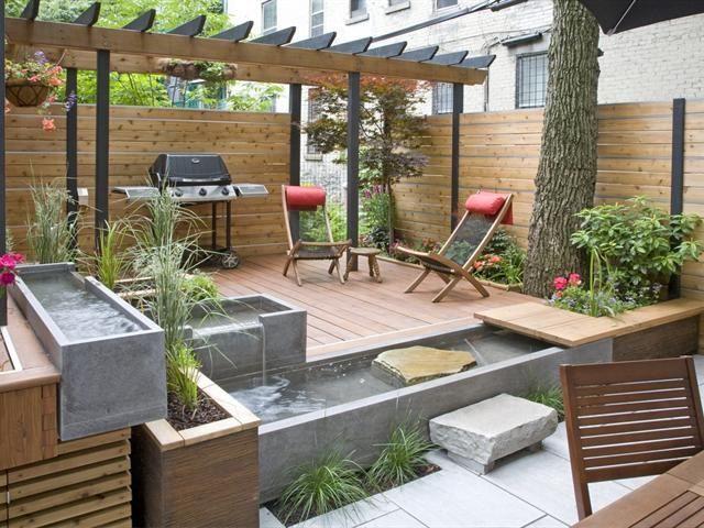 Immobilier Montreal Royal Lepage Le Groupe Mellor Details De La Propriete Jardin Avec Terrasse Amenagement Jardin Terrasse Jardin Bois
