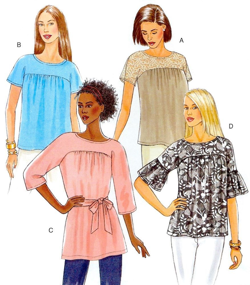 BRAND NEW Miss Plus Size 16-26 Very Easy Tops Sewing Pattern ...