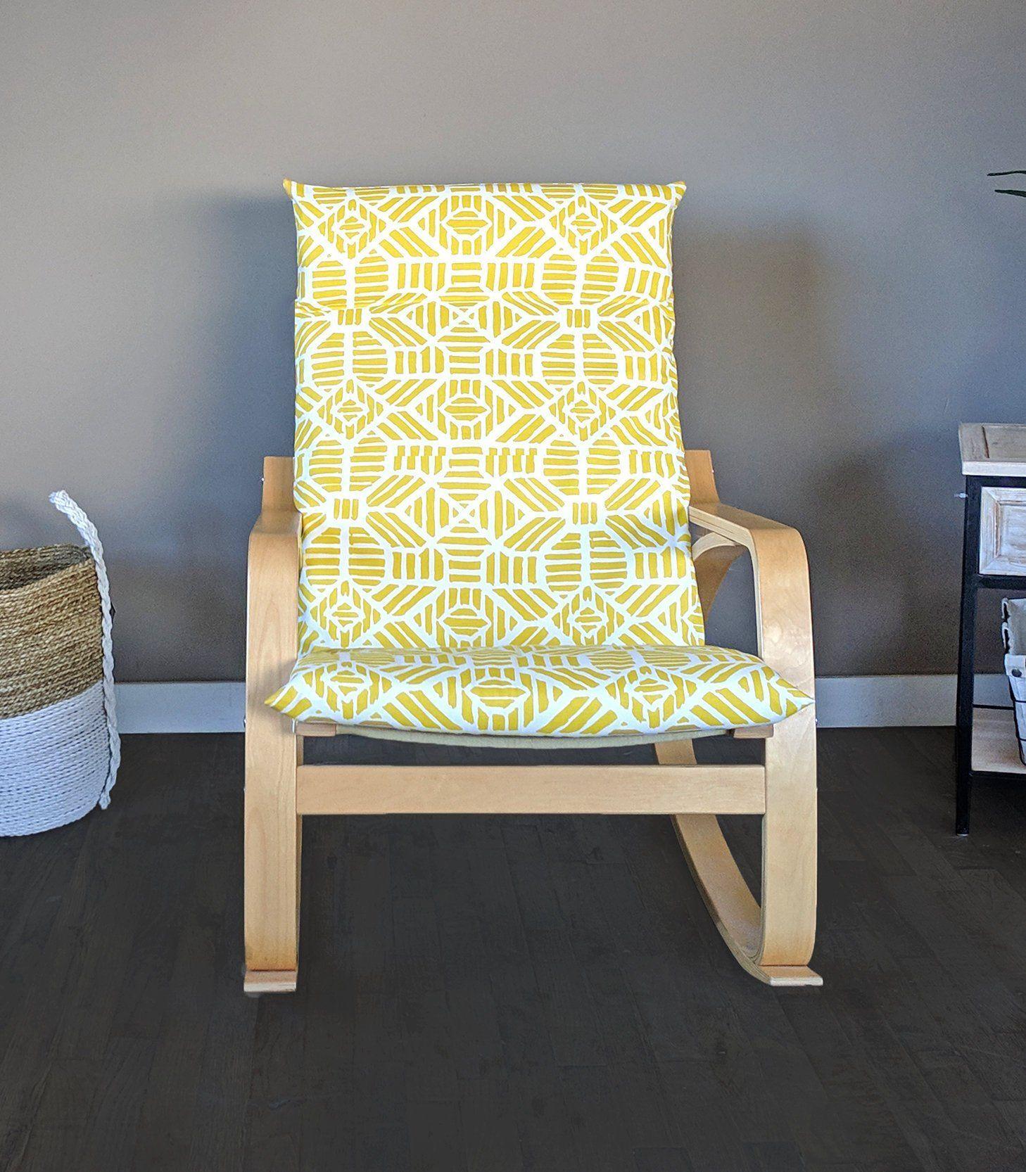 ikea wingback chair yellow