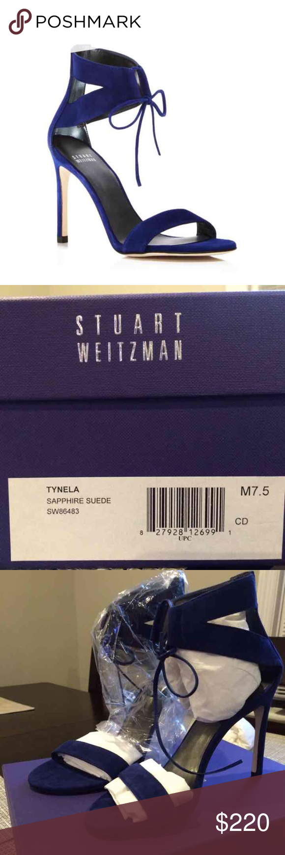Stuart Weitzman Tynela Sapphire. Brand New! Never Worn!! Gorgeous Sapphire Suede. 7.5M Stuart Weitzman Shoes Heels