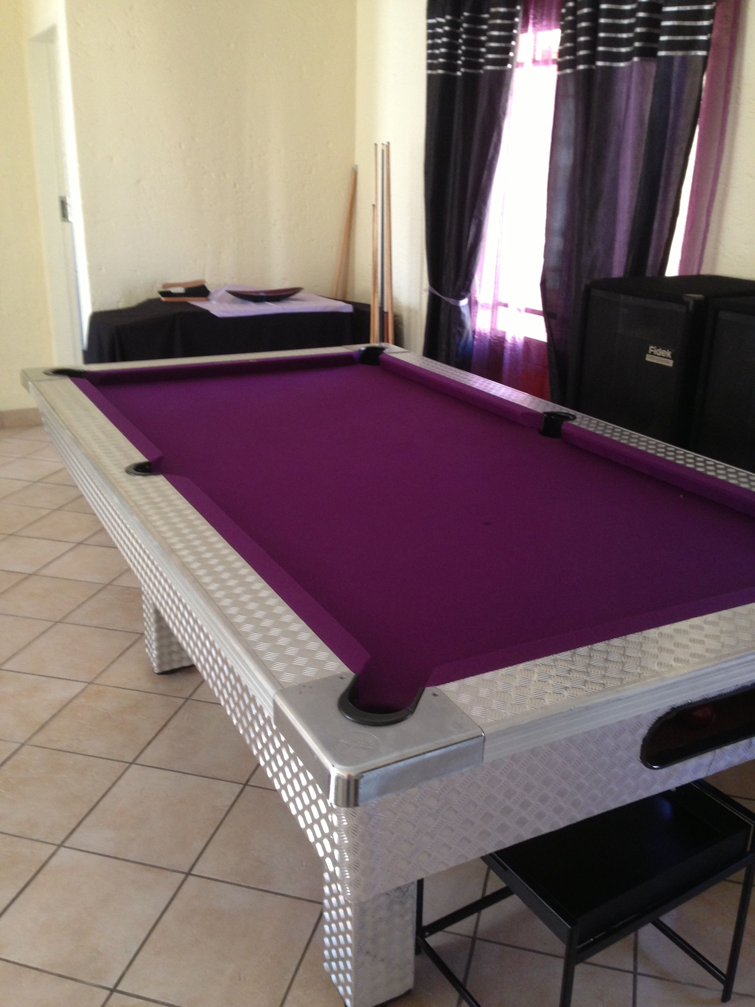 My Purple Pool Table   2