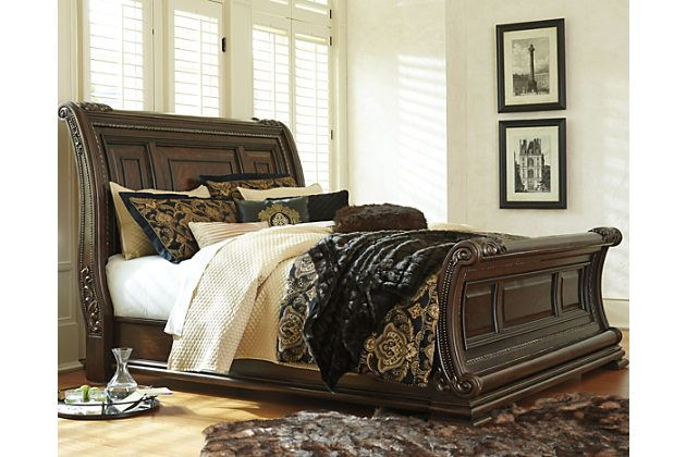 The Valraven Queen Sleigh Bed Is The Epitome Of Life On A Grander