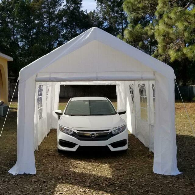 Quictent 20'x10' Heavy Duty Garage Carport Car Shelter