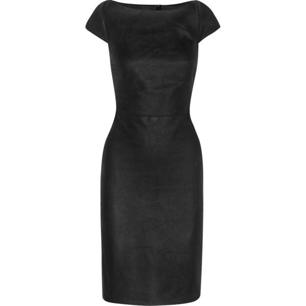 e44e105929 Gareth Pugh Paneled leather and stretch-jersey mini dress ( 560) ❤ liked on  Polyvore featuring dresses