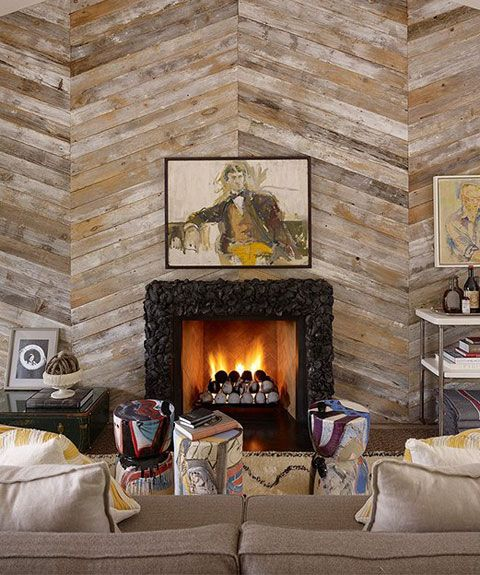 Diy Wood Plank Accent Wall: Consider Doing This Herringbone Plank Formation On Uneven