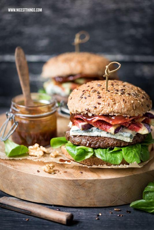 herbst burger rezept mit walnusspesto gorgonzola feigen bacon rezepte sandwich co. Black Bedroom Furniture Sets. Home Design Ideas