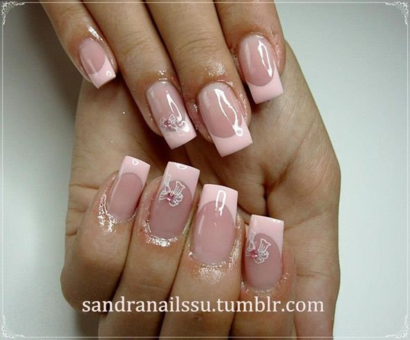 Beby Pink French Nail Art Gallery By Nails Magazine