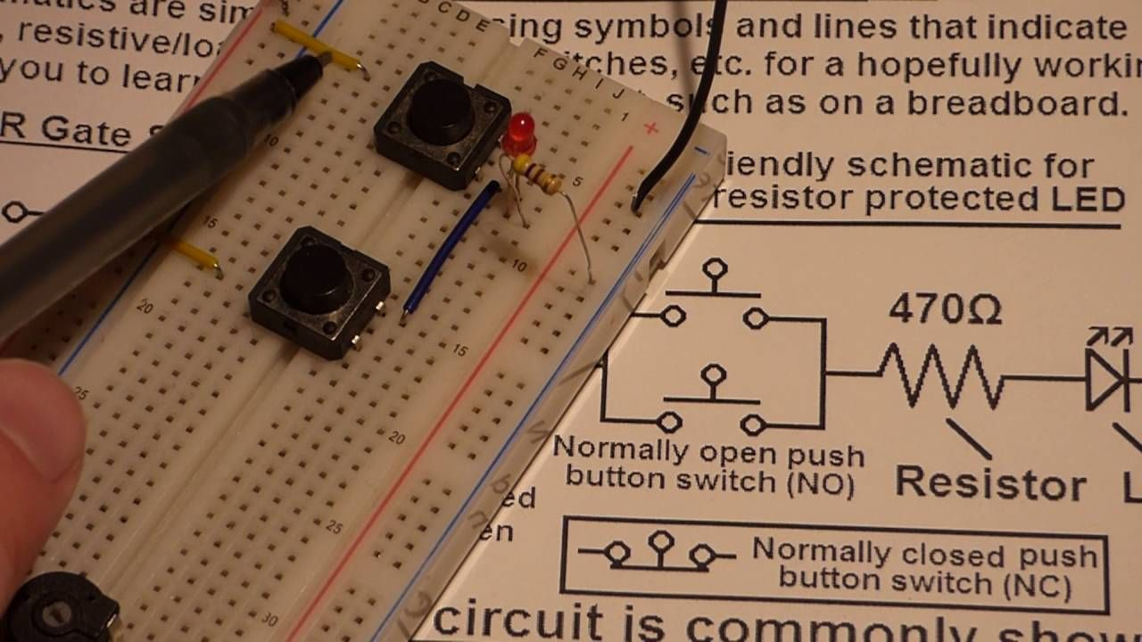 Lecture on reading electronics schematics using the switch based OR ...
