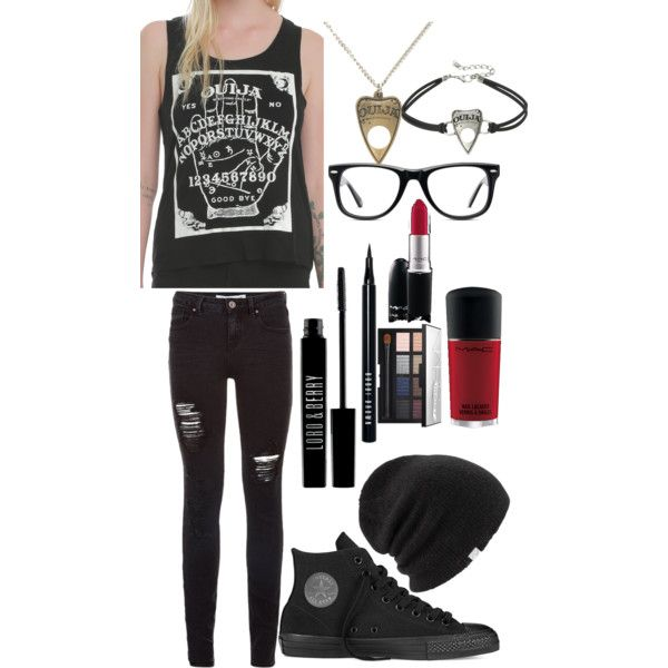 Ouija by jennavonvanity on Polyvore featuring polyvore, fashion, style, Converse, Muse, Coal, NARS Cosmetics, Bobbi Brown Cosmetics, MAC Cosmetics and Lord & Berry
