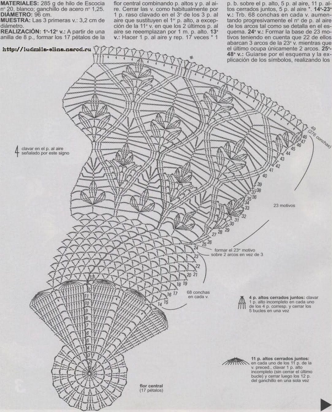skatert6_shema1.jpg (1083×1343)   Manteles crochet   Pinterest ...