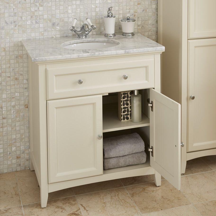 savoy old english white 790 basin unit with granite top and