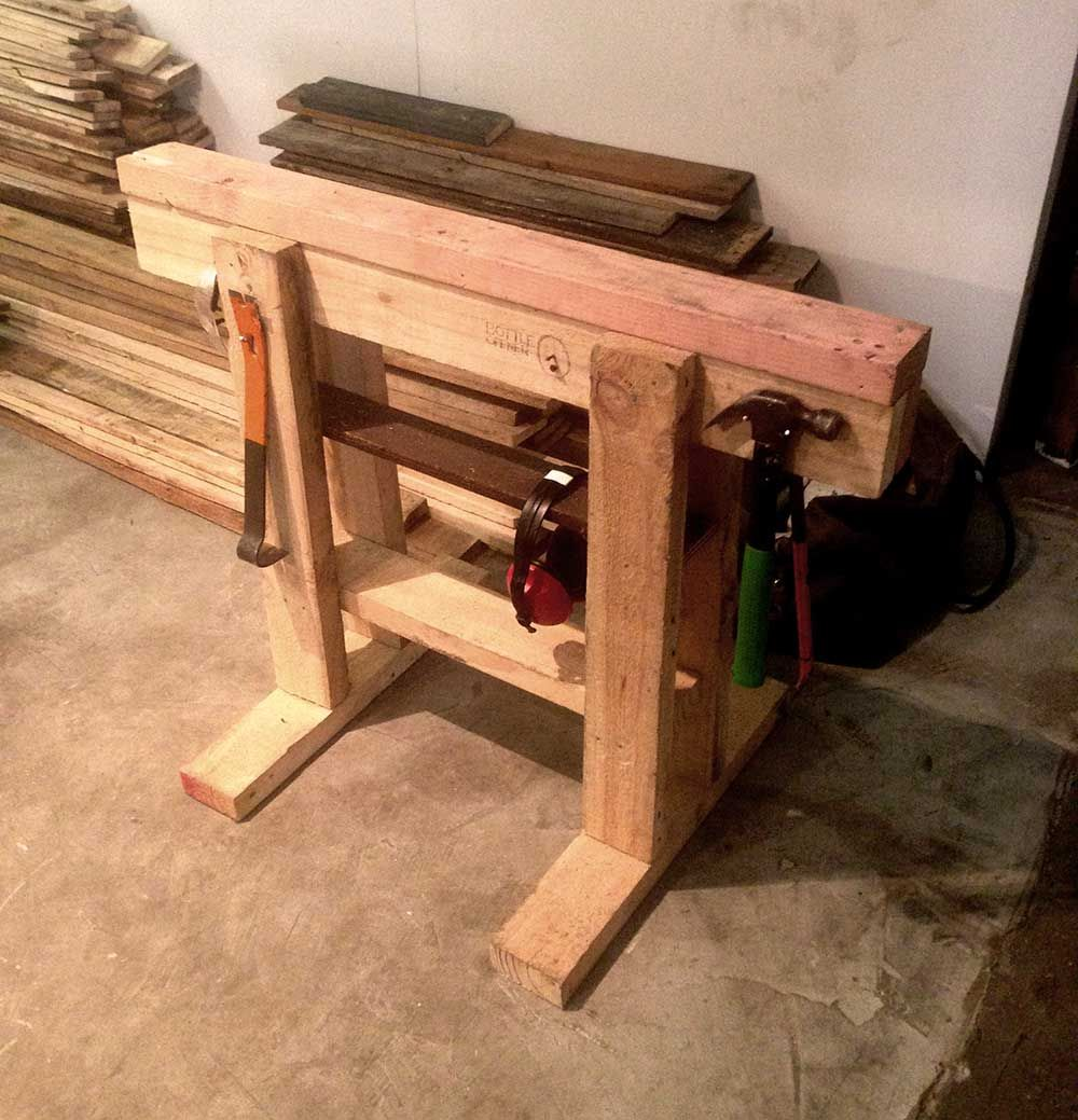 Pallet sawhorse makes the jobs a lot easier