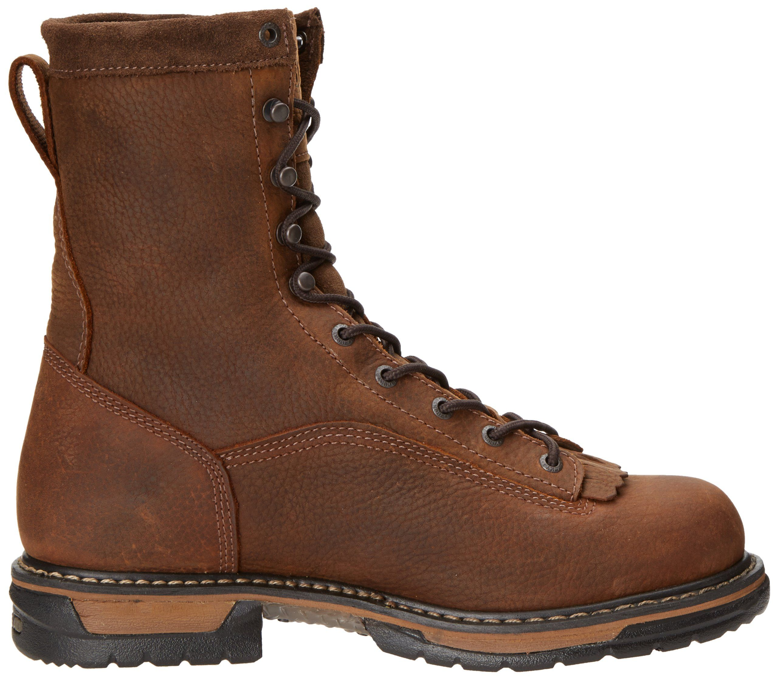 3f962a530c2 Rocky Mens Iron Clad Eight Inch LTT Work BootBrown10 M US ** Want ...