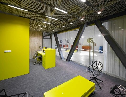 garage office designs. Office \u0026 Garage For A Car Collector In Poznan By Ultra Architects Designs E