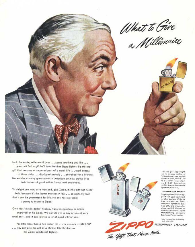 Vintage Zippo Advertisement From 1948 Zippo Lighter Zippo Retro Ads